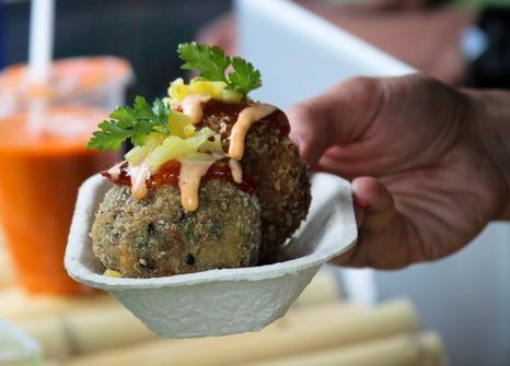 Asian fried rice balls