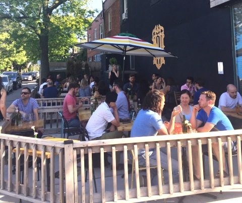 Bloor Street Patio bar