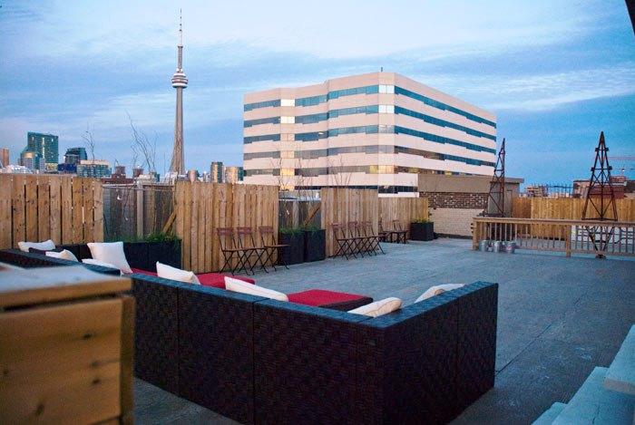 the burroughes rooftop view Toronto