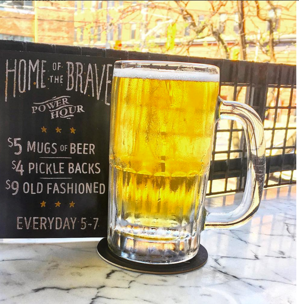 Draft Beer Happy Hour Special at Home of the Brave
