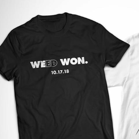 weed won october 17 legalisation t-shirt