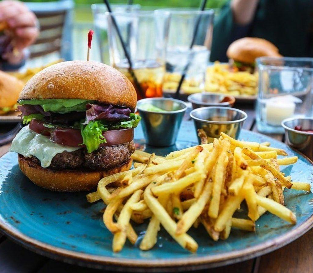 A hamburger at Allen's on Danforth