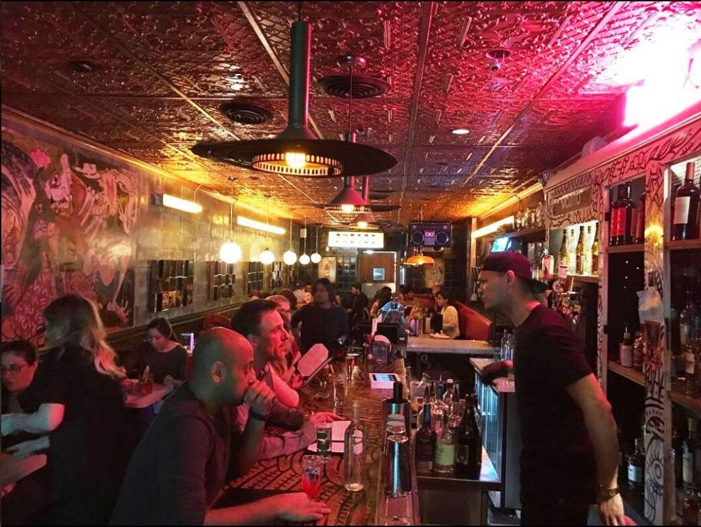 bar at Dolly's Toronto
