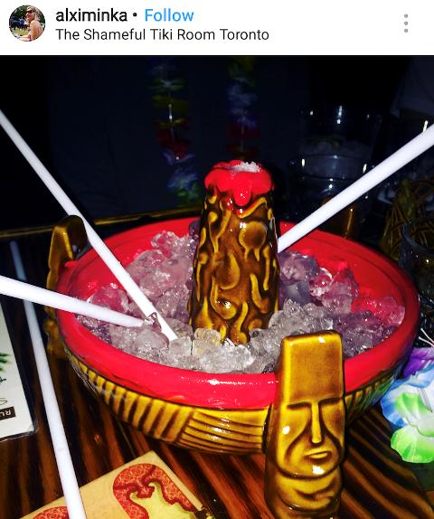 Volcano Bowl at Shameful Tiki
